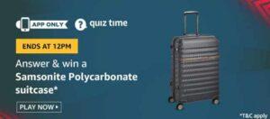 Samsonite Polycarbonate Suitcase Quiz
