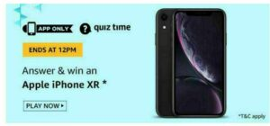 Today Amazon Quiz Answers 1 July (Answers Added) – Win Apple iPhone XR