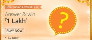 Amazon Fashion Is Offering ____ (Fill The Blank) Days Return Policy During Amazon Great Indian Festival.