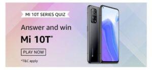 Amazon Mi 10T Series Quiz answers banner