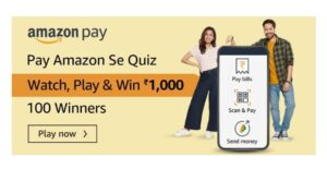 Through Amazon Pay One Can Scan _ UPI QR Code For Payment. Fill In The Blanks