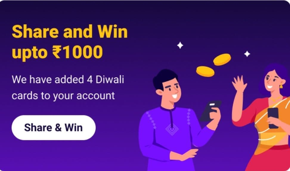 Lazypay Offer - Share and Win ₹1000 Cashback