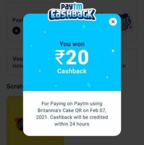 paytm rs 20 cashback scratch card