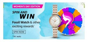 Amazon Women's Day Edition Spin and Win Quiz answers today