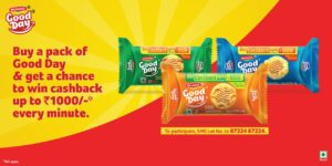 Britannia Good Day Offer – Win Up to ₹1000 Cashback Voucher Every Minute