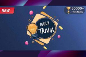 Flipkart Daily Trivia Answers Today